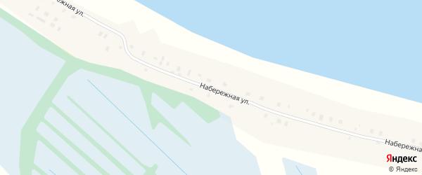 Набережная улица на карте поселка Березника с номерами домов