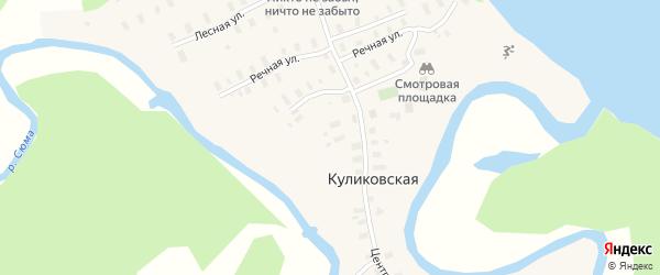 Советская улица на карте Куликовской деревни с номерами домов