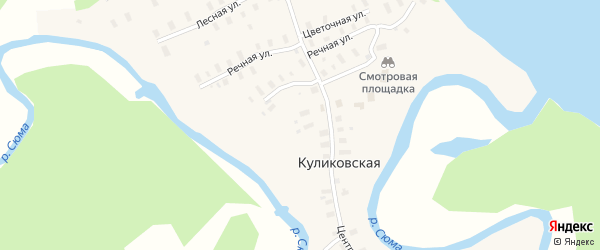 Северная улица на карте Куликовской деревни с номерами домов