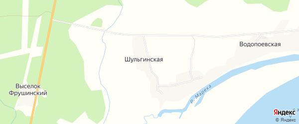 Карта Шульгинская деревни в Архангельской области с улицами и номерами домов