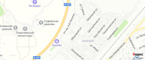 Зимний переулок на карте Ессентуков с номерами домов