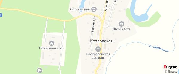 Крайняя улица на карте Козловской деревни с номерами домов
