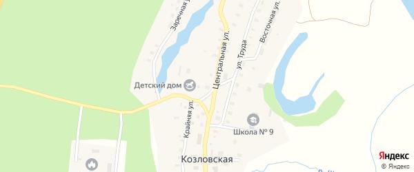 Садовый переулок на карте Козловской деревни с номерами домов