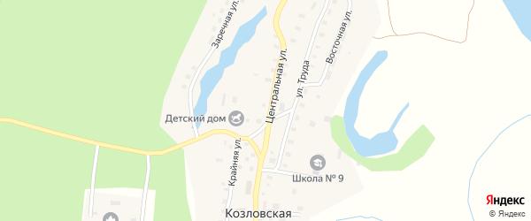 Центральная улица на карте Козловской деревни с номерами домов