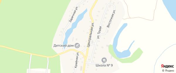 Центральная улица на карте Артемковской деревни с номерами домов