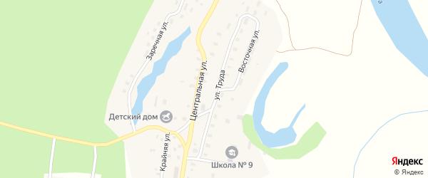 Улица Труда на карте Козловской деревни с номерами домов