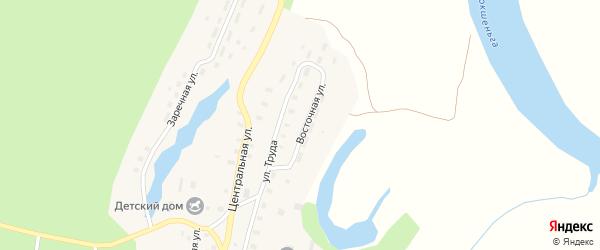 Восточная улица на карте Козловской деревни с номерами домов