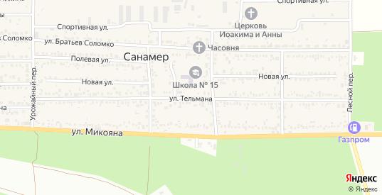 Улица Тельмана в поселке Санамер