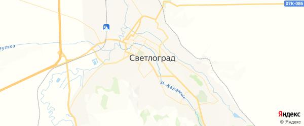 Карта Светлограда с районами, улицами и номерами домов