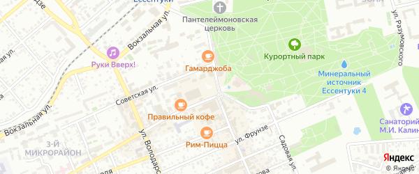 Территория гк Кавказ-2 на карте Ессентуков с номерами домов