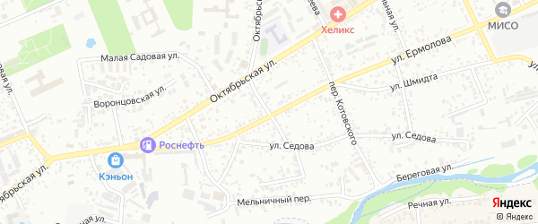 Переулок Маркова на карте Ессентуков с номерами домов