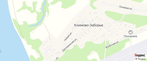 Новая улица на карте деревни Климово-Заборье с номерами домов