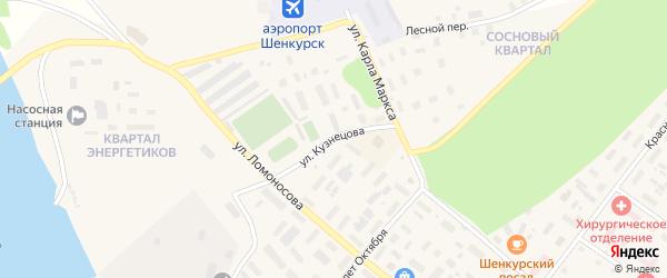 Улица Кузнецова на карте Шенкурска с номерами домов
