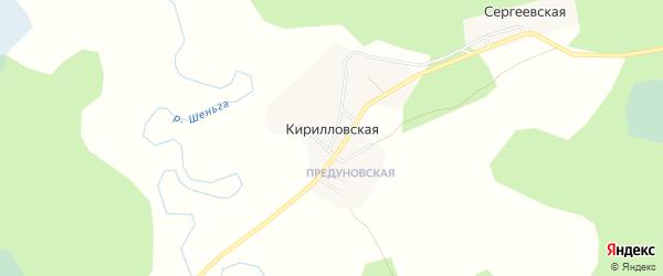 Карта Кирилловской деревни в Архангельской области с улицами и номерами домов