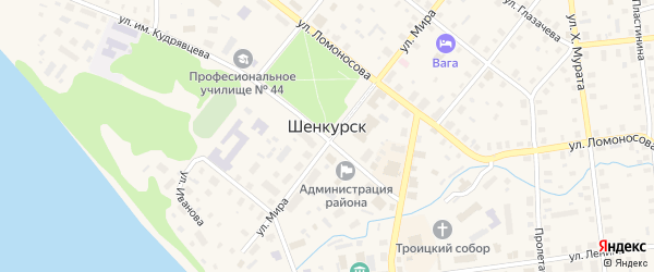 Улица Г.Иванова на карте Шенкурска с номерами домов
