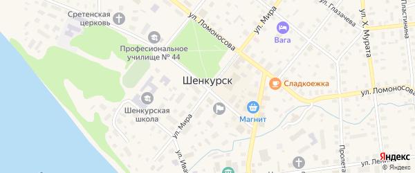 Территория База РСУ на карте Шенкурска с номерами домов