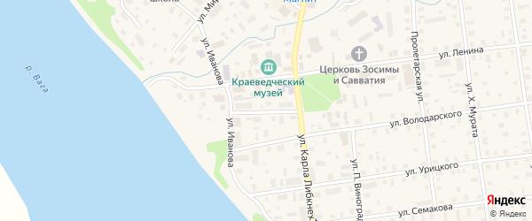 Октябрьская улица на карте Шенкурска с номерами домов