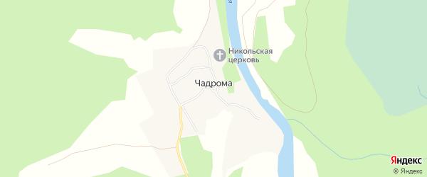 Карта деревни Чадромы в Архангельской области с улицами и номерами домов