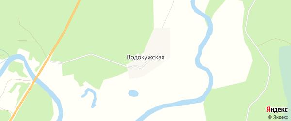Карта Водокужской деревни в Архангельской области с улицами и номерами домов