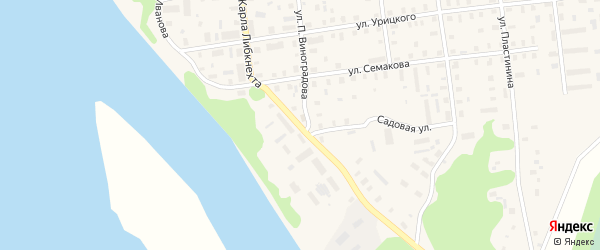 Улица К.Либкнехта на карте Шенкурска с номерами домов