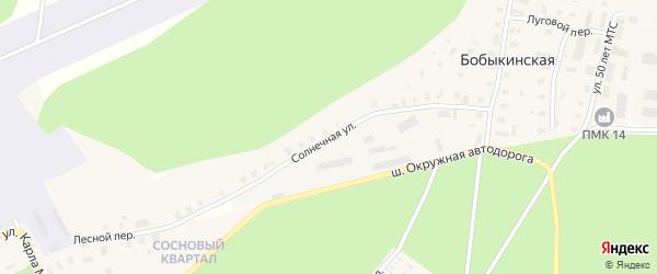 Солнечная улица на карте Бобыкинской деревни с номерами домов