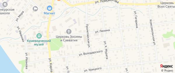 Пролетарская улица на карте Шенкурска с номерами домов