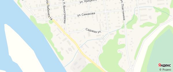 Садовая улица на карте Шенкурска с номерами домов