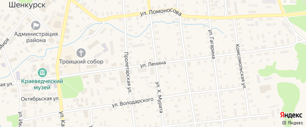 Улица Ленина на карте Шенкурска с номерами домов