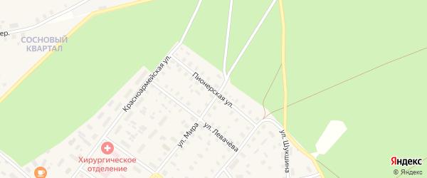Пионерская улица на карте Шенкурска с номерами домов
