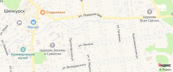 Улица Х.Мурата на карте Шенкурска с номерами домов