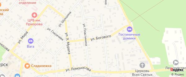 Улица Богового на карте Шенкурска с номерами домов