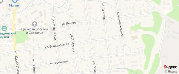 Улица Пластинина на карте Шенкурска с номерами домов