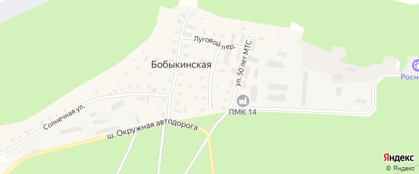 Лесной переулок на карте Бобыкинской деревни с номерами домов