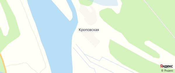 Карта Кроповской деревни в Архангельской области с улицами и номерами домов