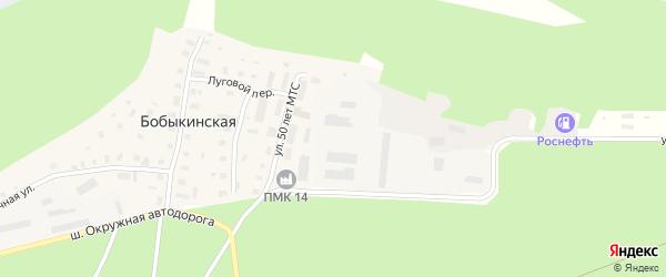 Рябиновая улица на карте Бобыкинской деревни с номерами домов
