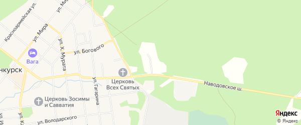 Карта территории Усадьбы лесхоза в Архангельской области с улицами и номерами домов
