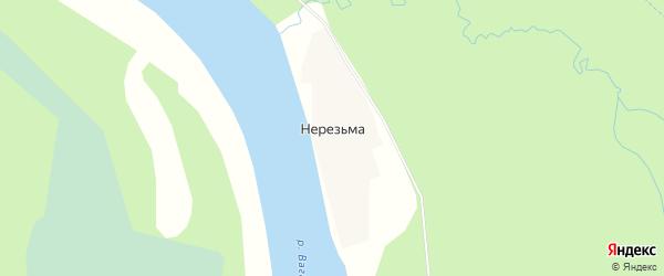 Карта поселка Нерезьмы в Архангельской области с улицами и номерами домов