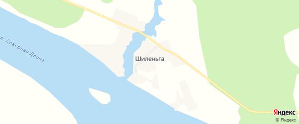 Карта деревни Шиленьги в Архангельской области с улицами и номерами домов