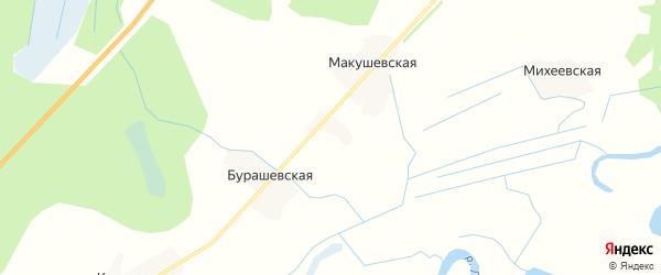 Карта Михеевской деревни в Архангельской области с улицами и номерами домов
