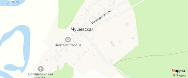 Полевая улица на карте Чушевской деревни с номерами домов