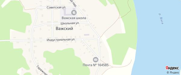 Гаражная улица на карте Важский поселка с номерами домов