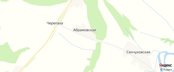 Карта Абрамовской деревни в Архангельской области с улицами и номерами домов