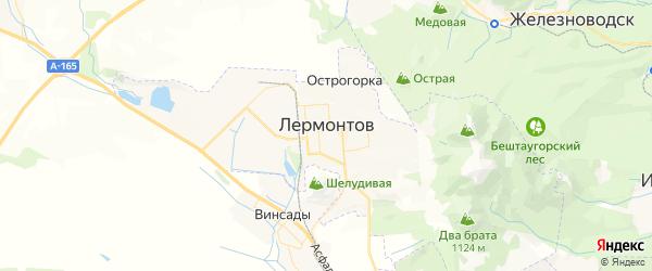 Карта Лермонтова с районами, улицами и номерами домов