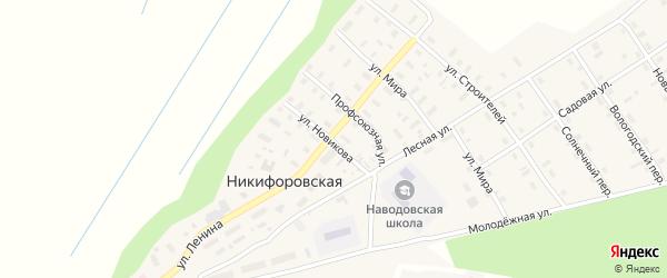Улица Новикова на карте Никифоровской деревни с номерами домов