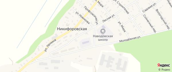 Садовая улица на карте Никифоровской деревни с номерами домов
