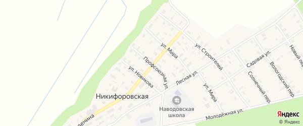 Профсоюзная улица на карте Никифоровской деревни с номерами домов