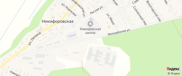 Молодежная улица на карте Никифоровской деревни с номерами домов