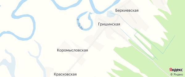 Карта Фадеевской деревни в Архангельской области с улицами и номерами домов