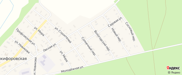 Сосновый переулок на карте Никифоровской деревни с номерами домов