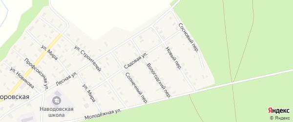 Вологодский переулок на карте Никифоровской деревни с номерами домов